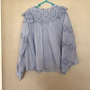Blue long sleeve dress shirt